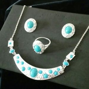 Jewelry - Silver and turquoise set
